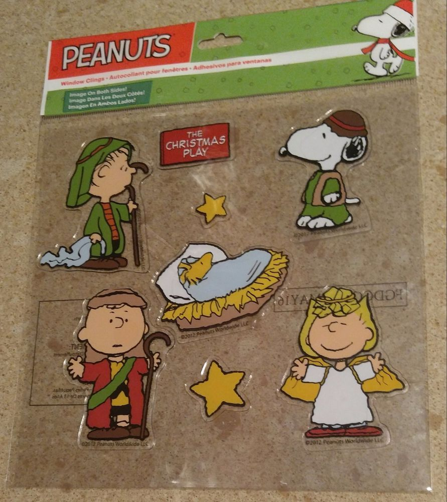 new peanuts snoopy nativity indoor outdoor window gel cling christmas decoration jpg 891x1000 snoopy decorations indoor