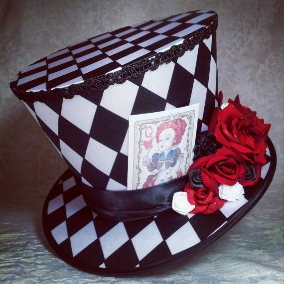 Mad Hatter hat, Steampunk hat, Full Size Top Hat, Top Hat, Custom ...
