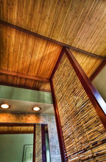 Bamboo Ceiling Contemporary Patio Bamboo Design