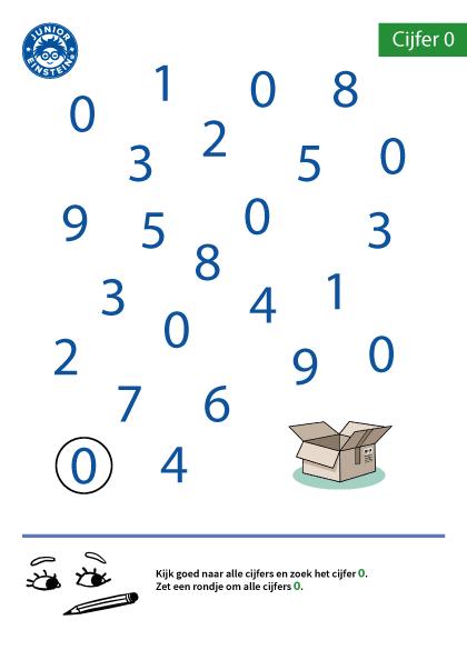 Met Dit Werkblad Oefen Je Het Herkennen Van Het Cijfer 0 Zet Alleen Een Rondje Om Het Cijfer 0 En Probeer Wiskunde School Kleuterschool Wiskunde Cijfers Leren