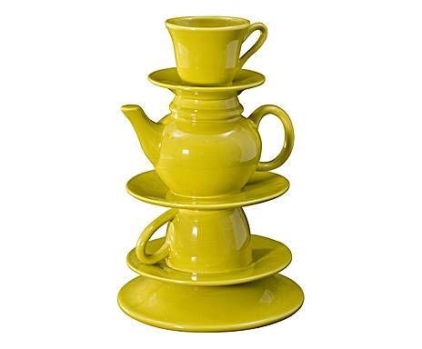 CAYOS: Vaso in ceramica Wonderland kiwi - 19x30x19 cm Ceramic Vase