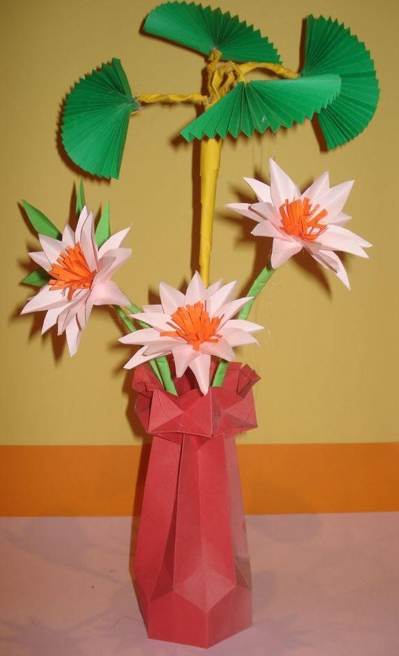 Kwiaty Z Papieru Ikebana Prace Plastyczne Dariusz Zolynski Flowers Paper Paper Flower Prace Z Papieru Paper Flowers Origami Flowers