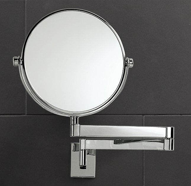 Charmant 5x Modern Extension Mirror Comes In Polished Nickel