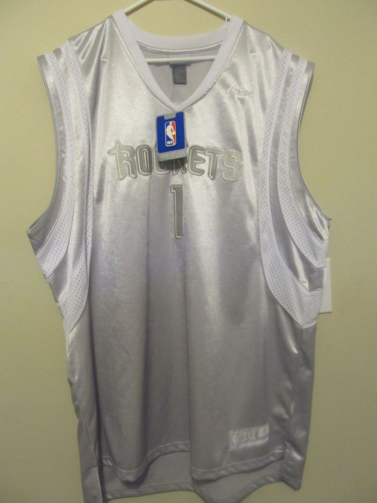 new concept 27ff3 9f069 Tracy McGrady - Houston Rockets Silver Shadow jersey ...