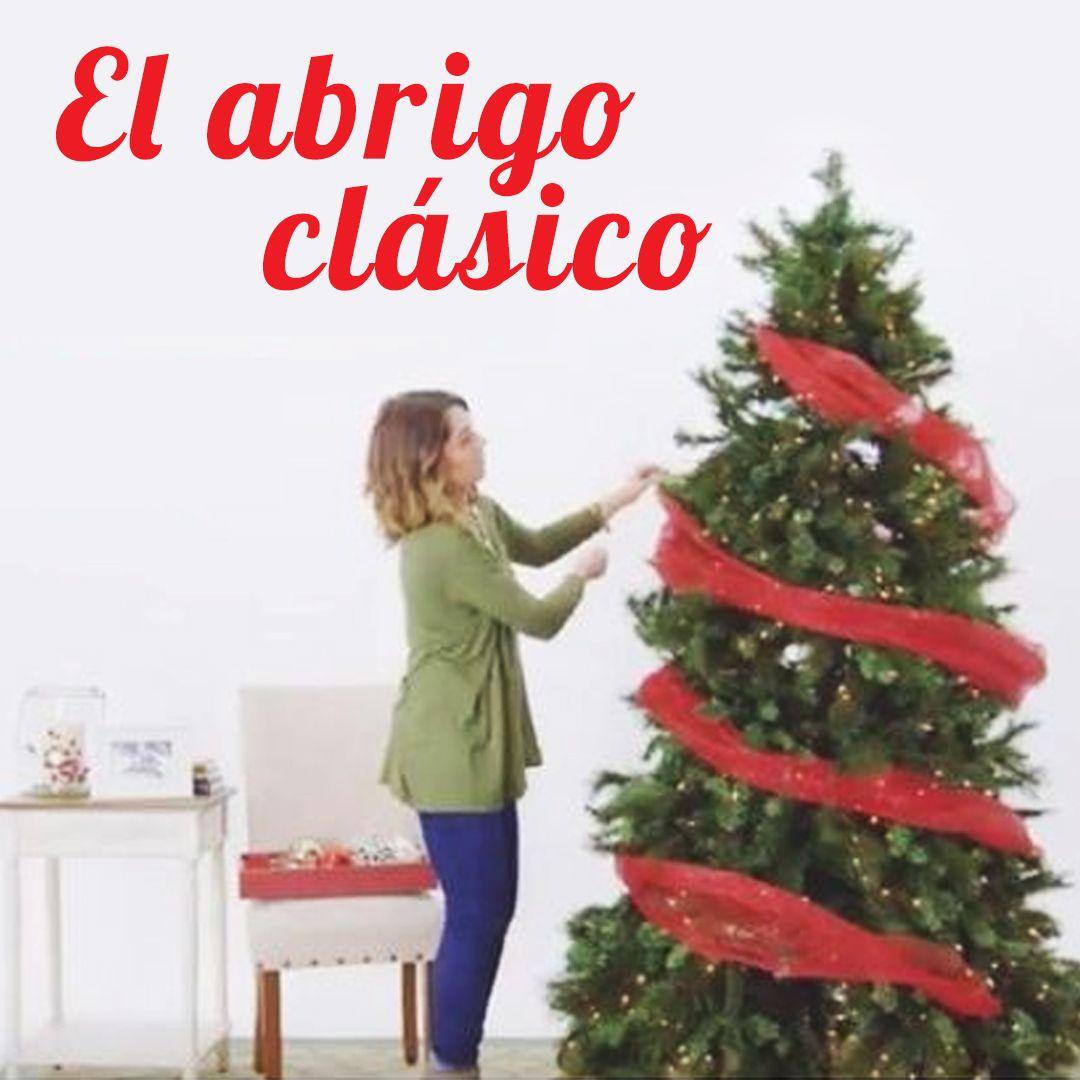 8027fc178ae Ideas para decorar con Malla tu Árbol de Navidad  El abrigo clásico.Tejer la