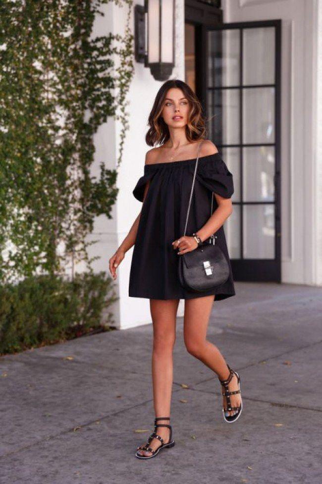 Schwarze kleider outfit
