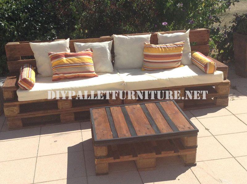Außen Sofa Und Tisch Mit Paletten Diy Divano Divano Esterno Und