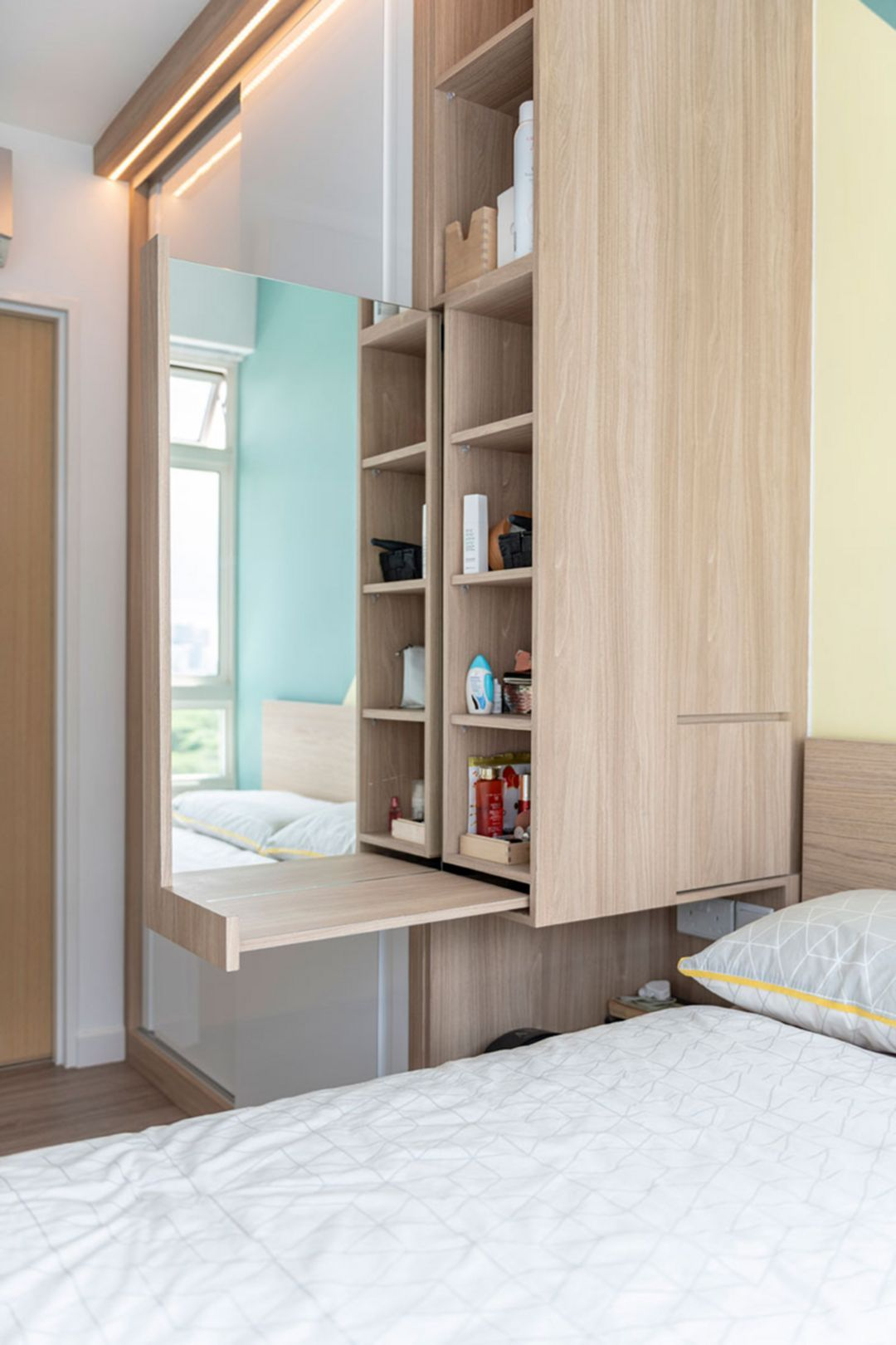 Small bedroom with wardrobe