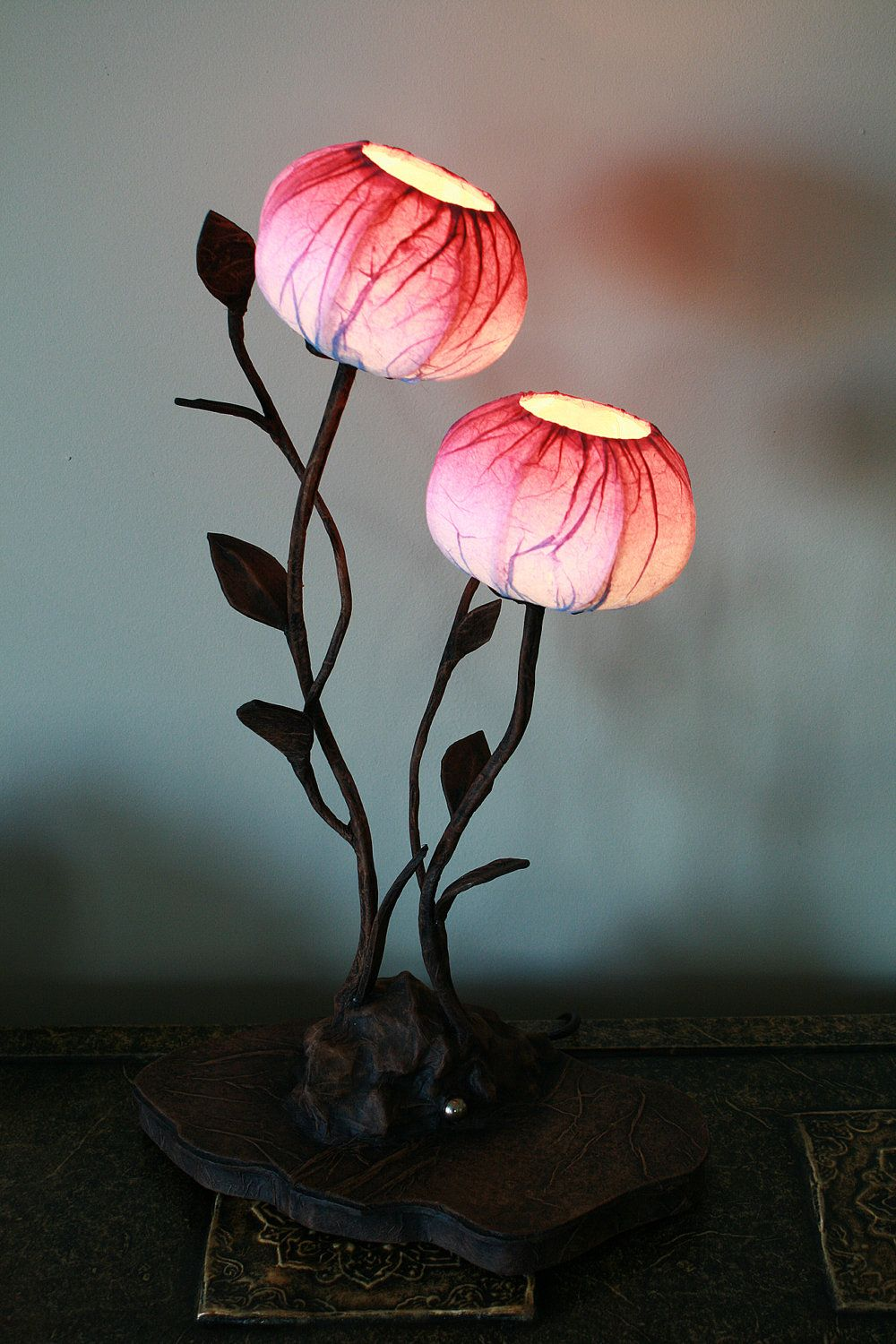 Custom Hanji Paper Shade Lamp Created By Artist Songhee Choi. Love The  Organic Nature Of