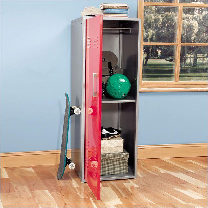 Powell Furniture Teen Trends Red Home Storage Kids Locker Closet ...
