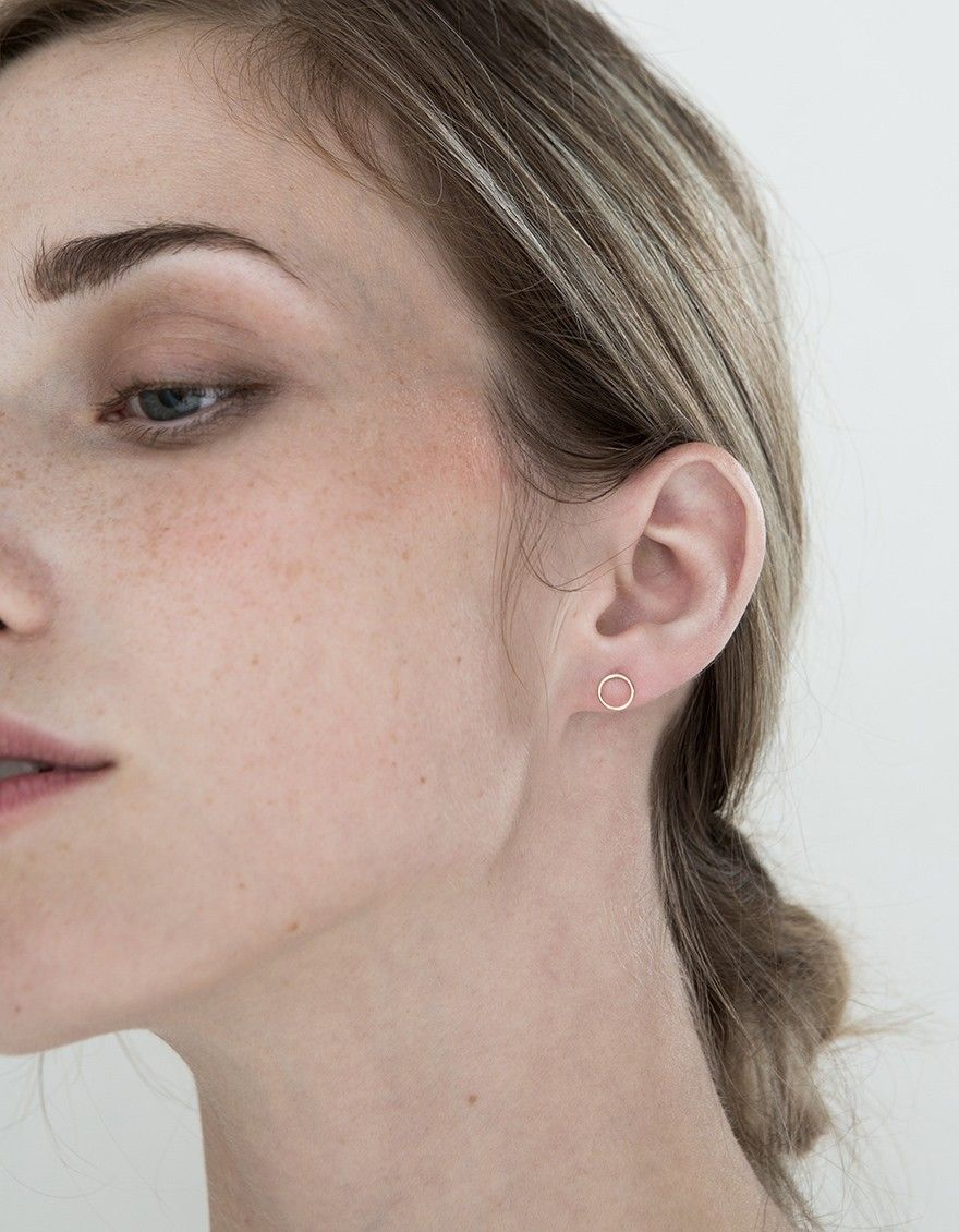 2 nose piercing  ONLY ONE From Winden Jewelry a minimalist stud earring in Yellow