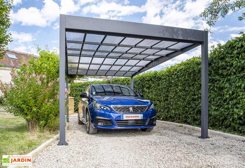 Carport en Aluminium et Polycarbonate Libeccio 15 m²