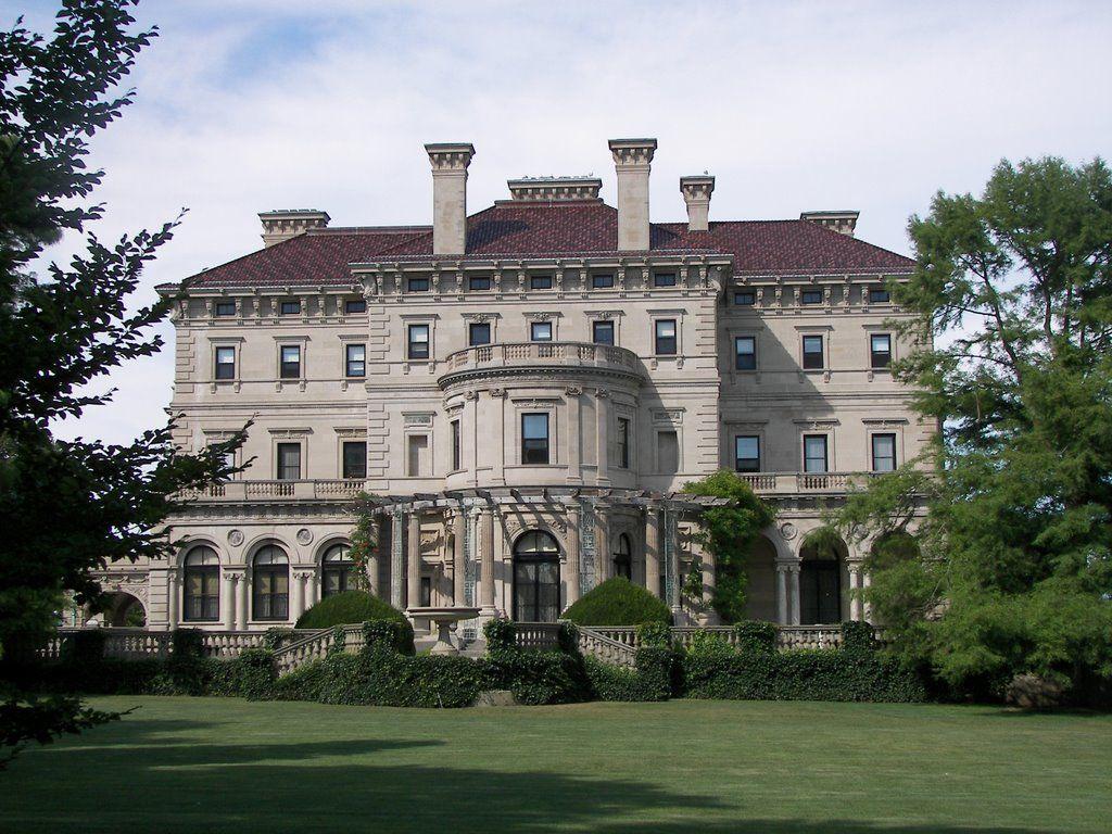 The Breakers Vanderbilt mansion, southwest facade ...