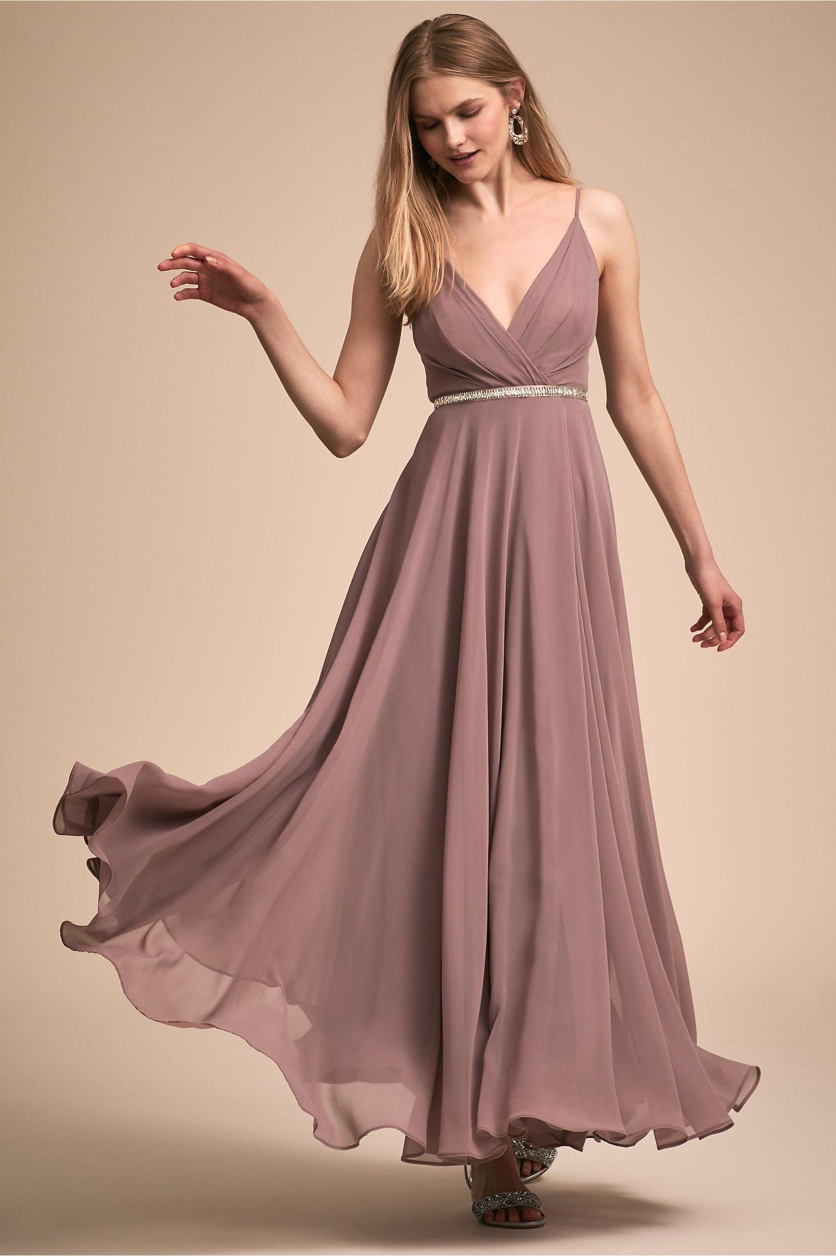 Gray dress for wedding party  BHLDNus Eva Dress in Violet Grey  Products  Pinterest  Bridal