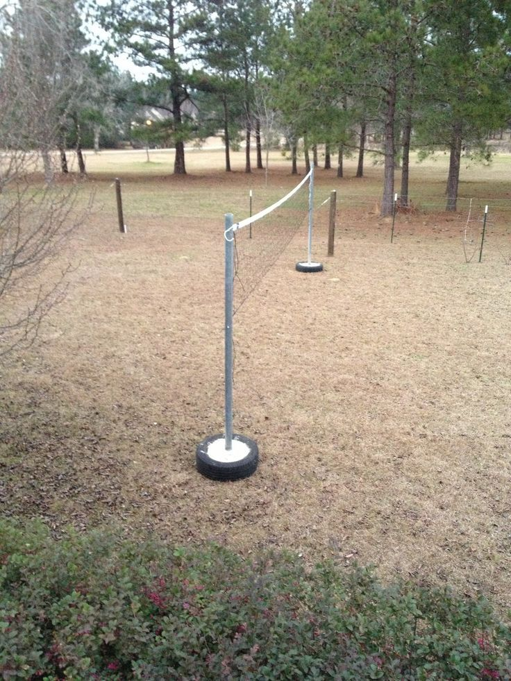 How to make volleyball poles   Volleyball court backyard ...