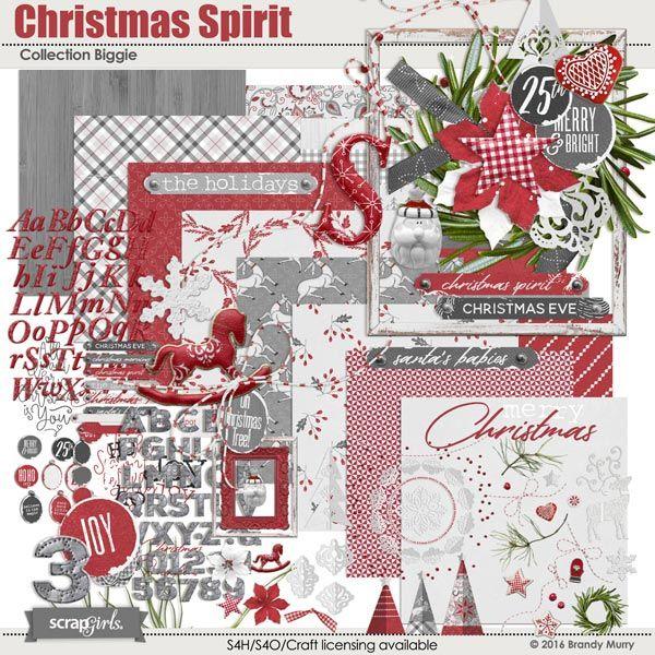 Christmas Spirit Collection Biggie by Brandy Murry for www.scrapgirls.com