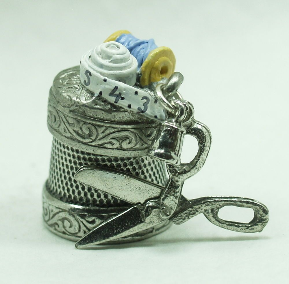+Sewing+Scissors++Warwick+Thimbles+Collector+Pewter+novelty