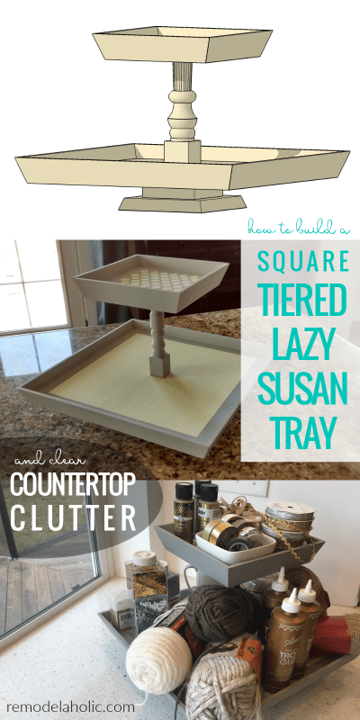 How To Build A Square Two Tiered Lazy Susan Tray Diyprojects