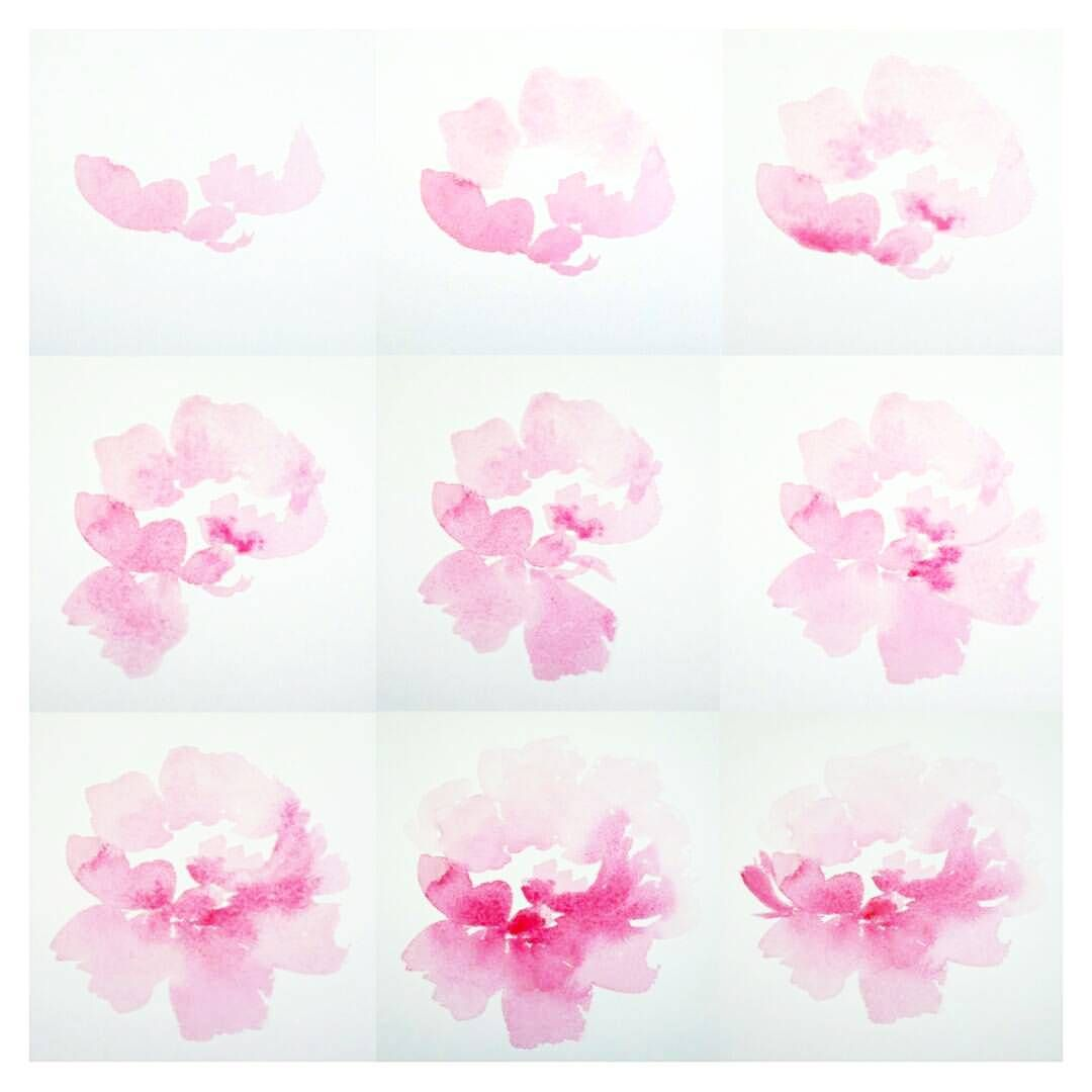 Day 4 100 Peony Step By Step The100dayproject