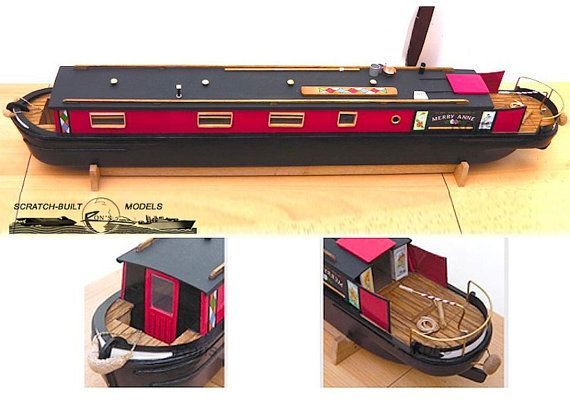 Model Plans for Canal Boat / Narrowboat 1/24 by ScaleModelDIY | Boat | Narrowboat, Canal boat ...