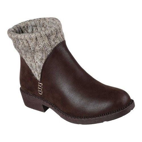 Women S Skechers Elm Ankle Boot Chocolate Boots Boots