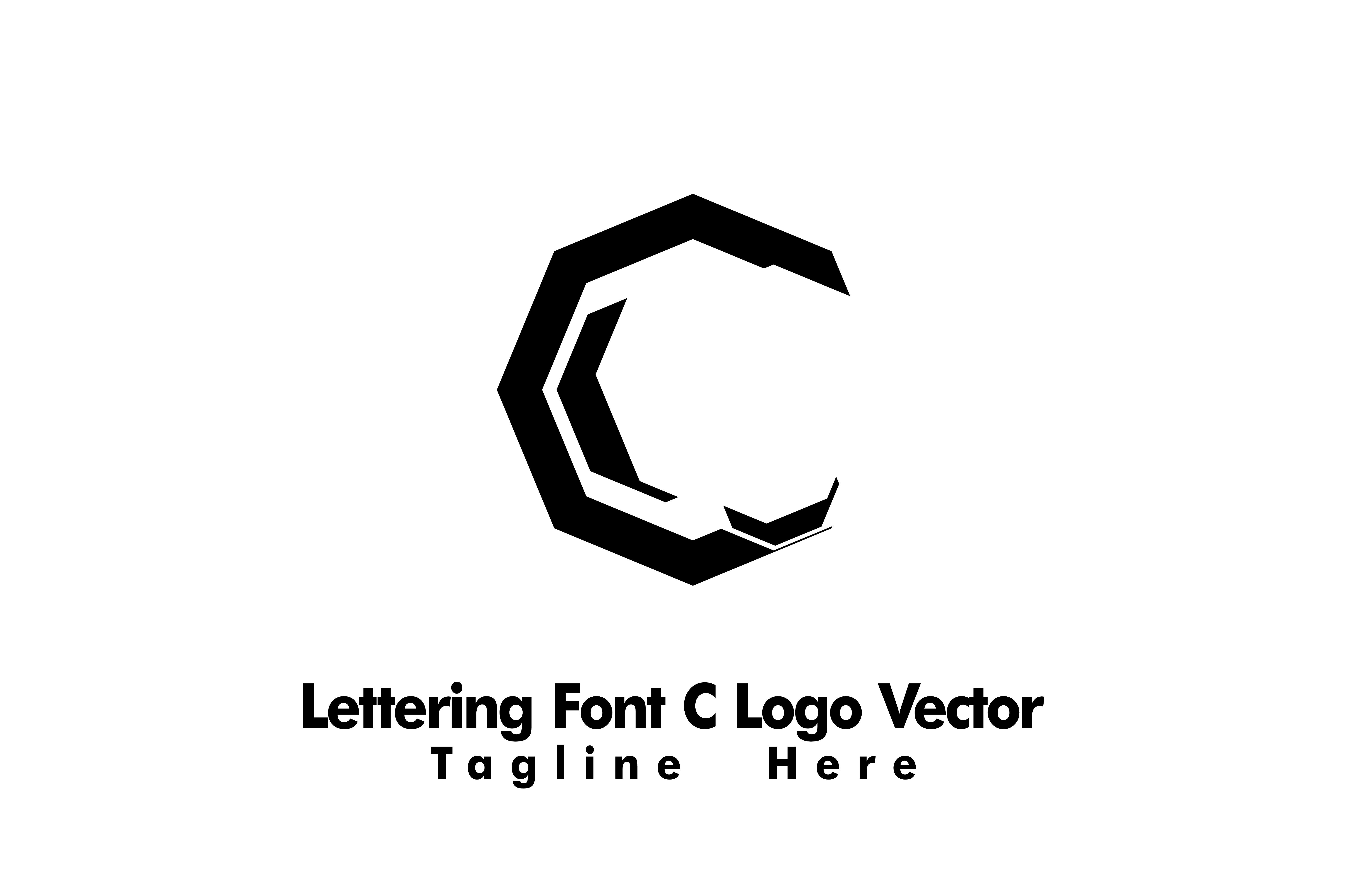 Lettering Font C Logo Vector (Graphic) by Yuhana Purwanti