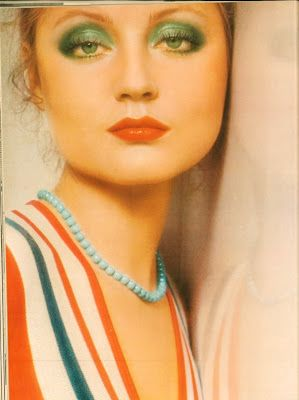 Pretty 70s Makeup On Ingrid Boulting Love That Emerald