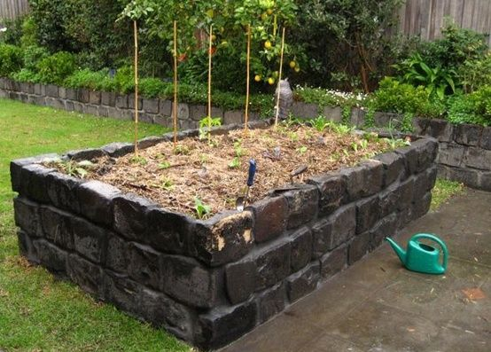 Bluestone raised garden bed from the little veggie patch for Vegetable patch ideas