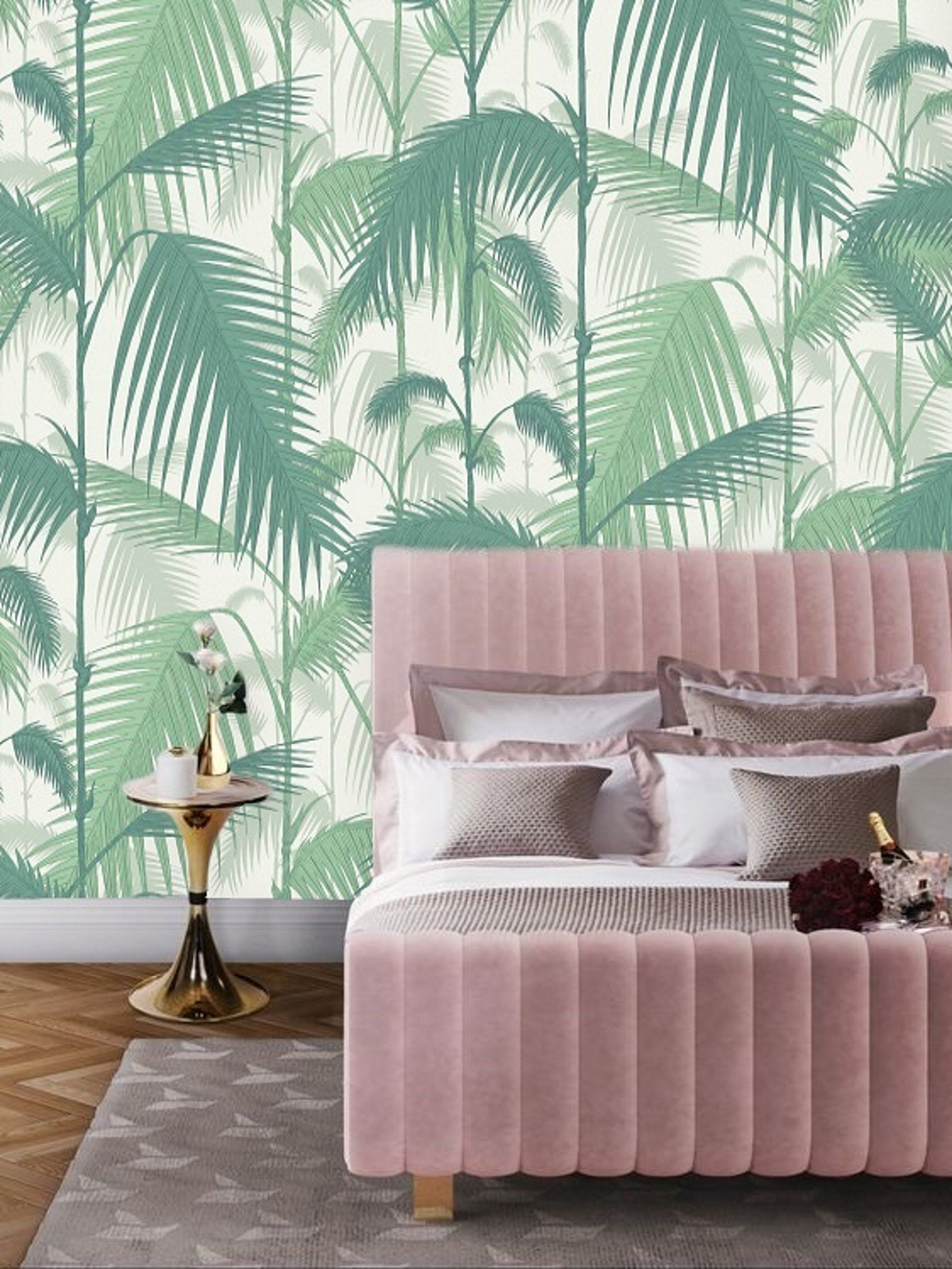 Remove Wallpaper Mural Peel and Stick, Palm Leaf Wallpaper