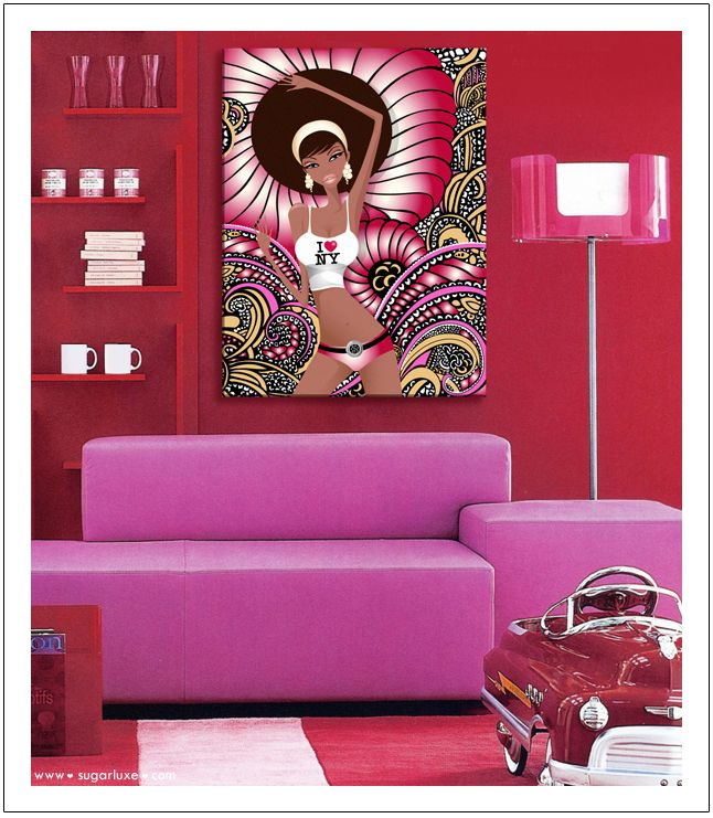 I ♥ NY by Sugarluxe - Red & Pink Modern Pop Art #interior #design ...
