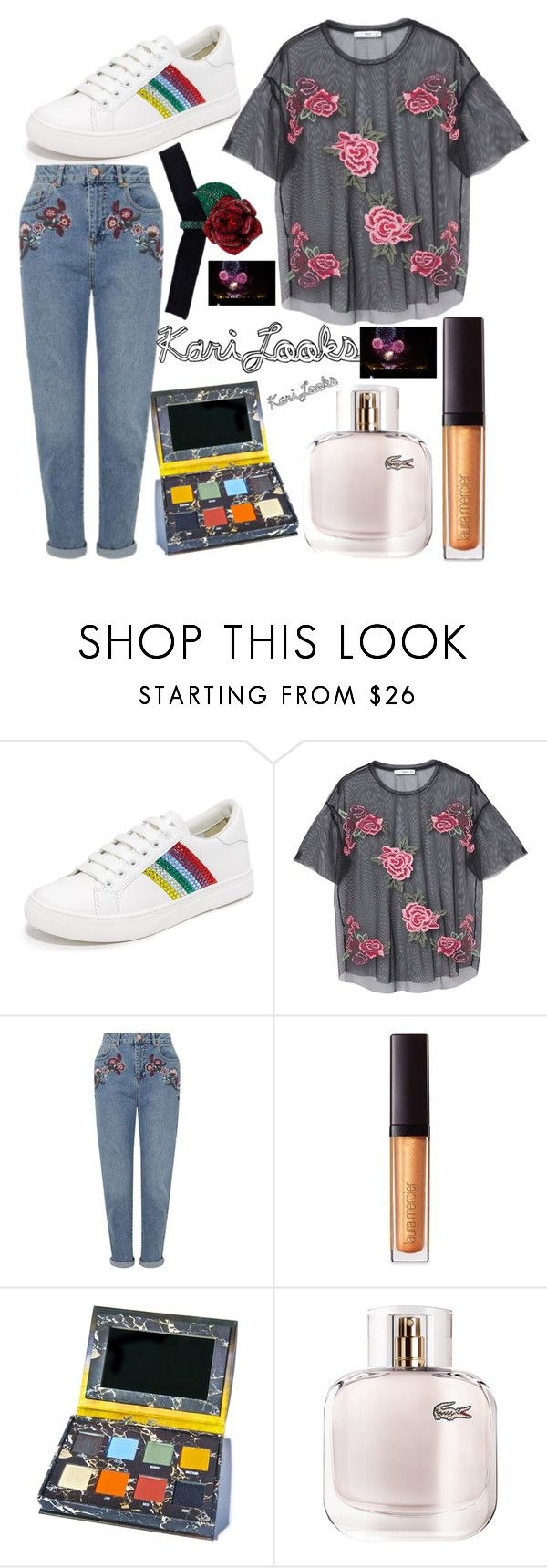 """7 seven 🌈"" by karilooks ❤ liked on Polyvore featuring Marc Jacobs, MANGO, Miss Selfridge, Laura Mercier, Lime Crime and Lacoste"