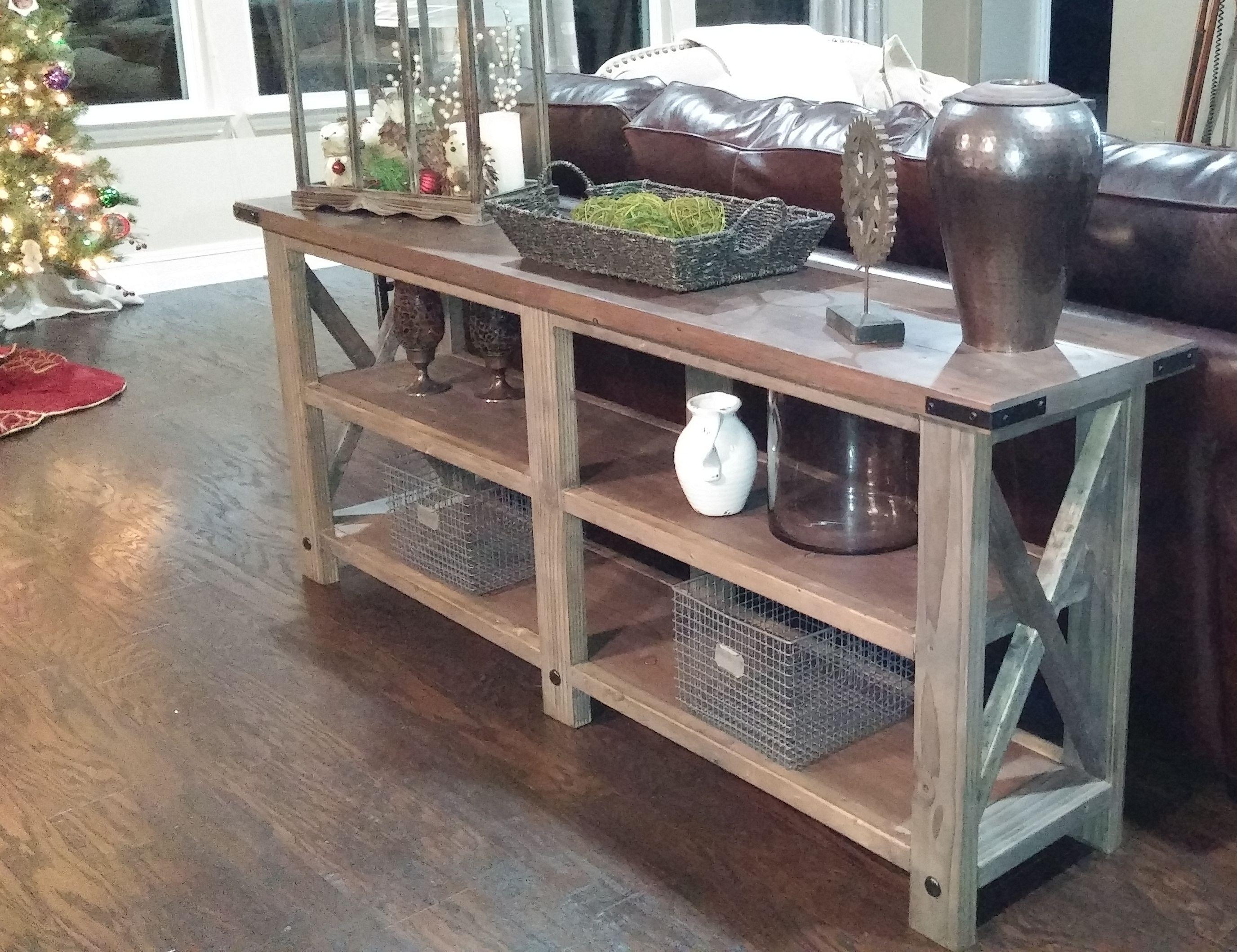 rustic x console muebles de pales