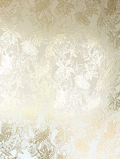 Hothouse cream gold wallpaper by erica wakerly wall for Cream wallpaper for walls
