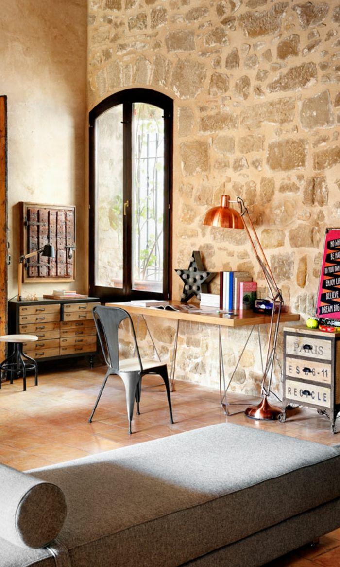 Ideen Für Arbeitszimmer arbeitszimmer ideen vintage einrichtung möbel aus massivholz