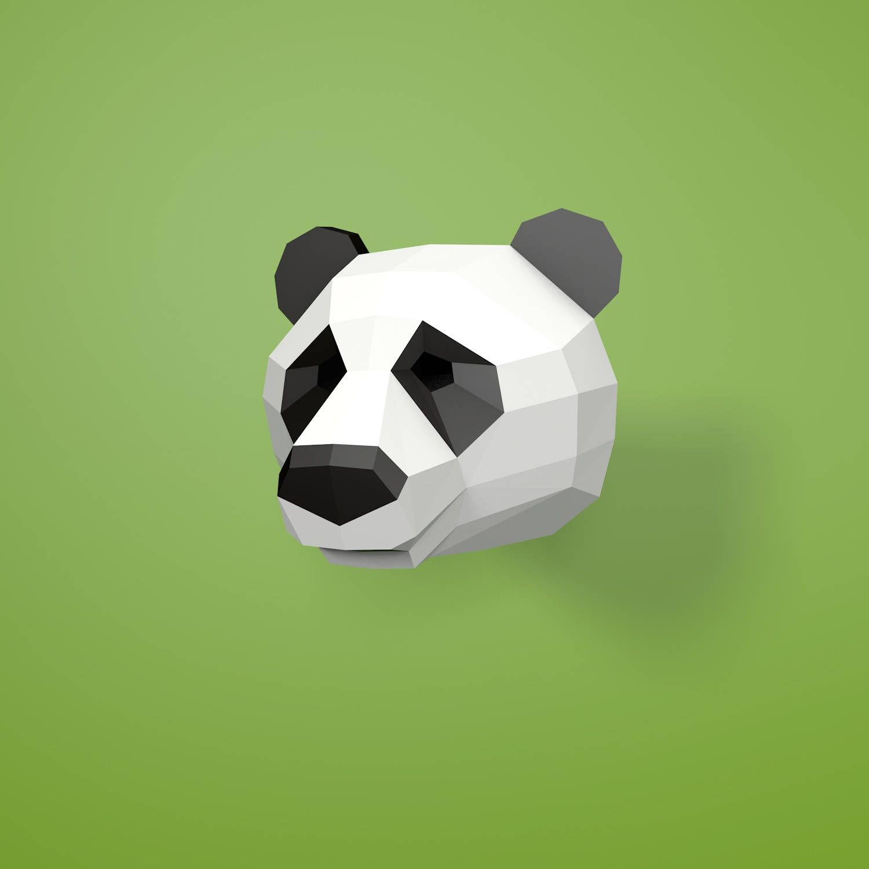 DIY Panda Bear Mask. | Panda Bear mask | Halloween Masks ...