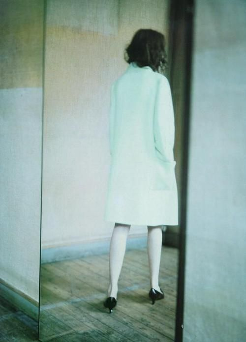 Audrey Marnay photographed by Paolo Roversi for Vogue Italia ('A Mirror Story'), 1998.   www.stylissima.co.il