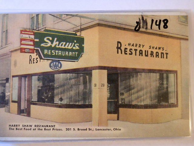 Lancaster Ohio Harry Shaw Restaurant Lancaster Ohio And