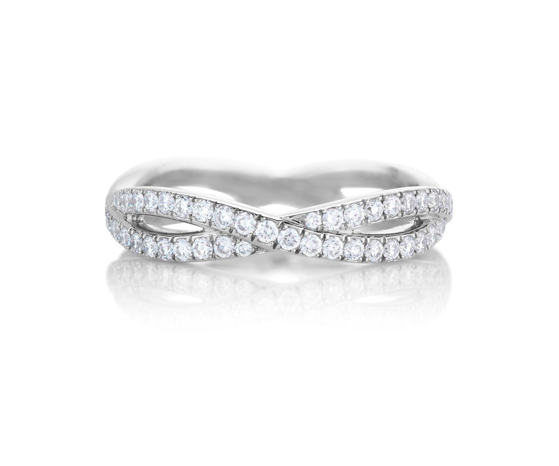 Infinity White Gold Full-Pavé Band | Diamonds are Forever ...