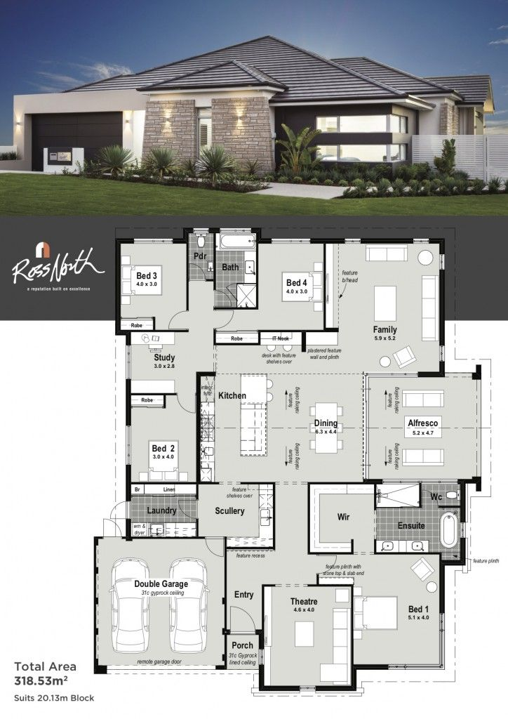 The odyssey single storey display home ross north homes perth modern house plans also best designs images in dream rh pinterest