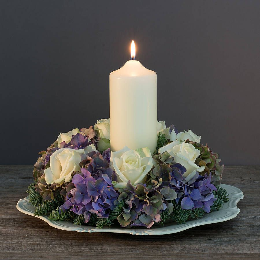 Flowers For Wedding Table Centerpieces: Fresh Flower Table Wreath