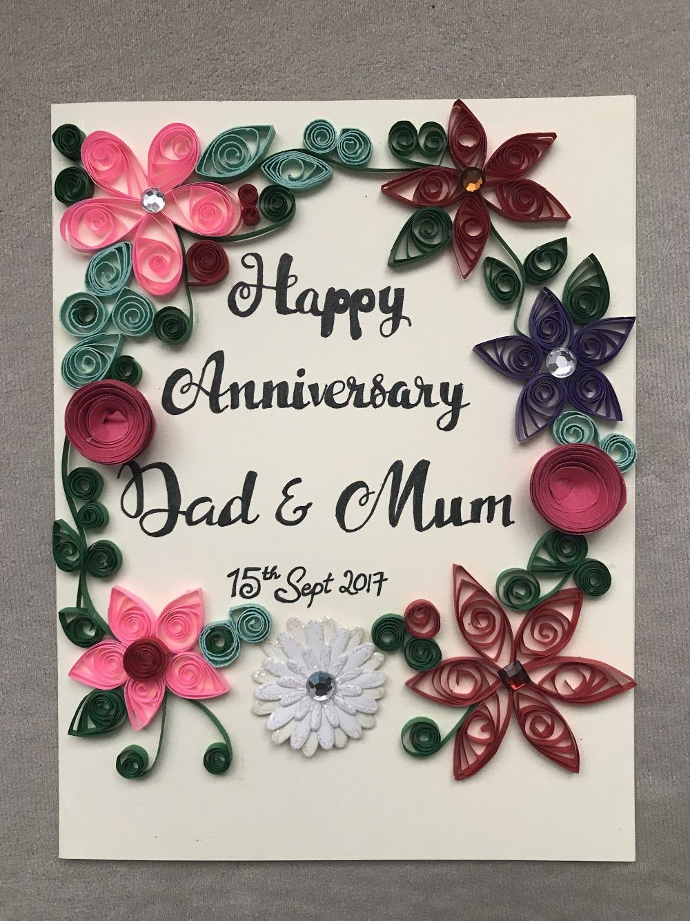 Anniversary Handmade Card For Parents In 2020 Happy Anniversary Cards Anniversary Cards Handmade Diy Anniversary Gift
