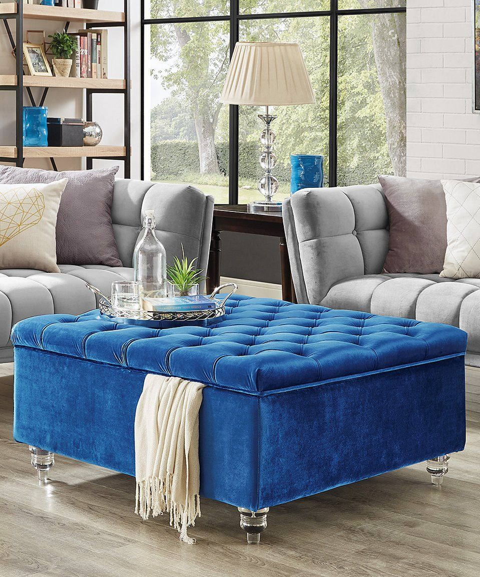 Take A Look At This Blue Claretta Square Storage Ottoman Coffee Table Today Square Storage Ottoman Storage Ottoman Coffee Table Storage Ottoman