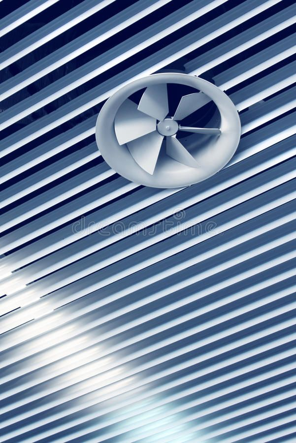 Cool air vent fan. Air conditioning cool air vent fan on