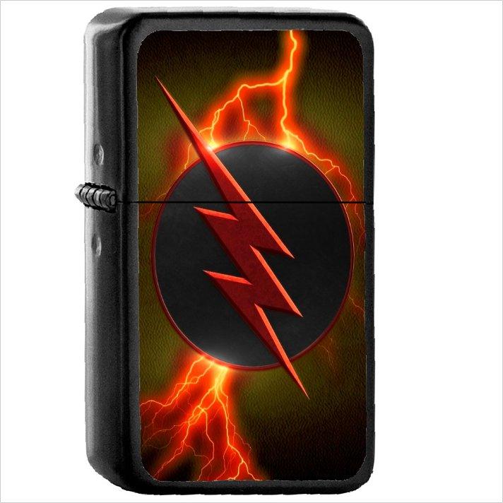 Tv Show The Flash 2014 Oil Windproof Black Lighter Briquet Encendedor L2362 The Flash Black Light Tv Shows