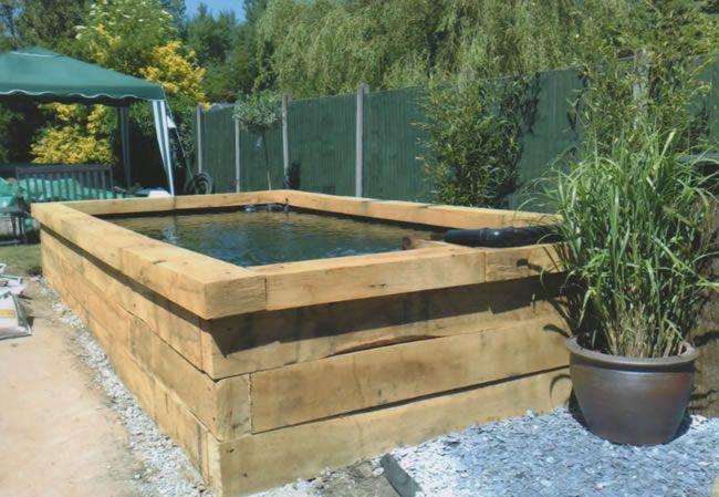 Ideas For On Ground Temporary Pond Backyard Pinterest Raised - Raised garden pond design ideas