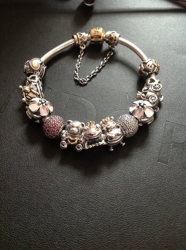 Pandora bracelet - these three little two tone guys at the front just make the bracelet - Pandora superfan!