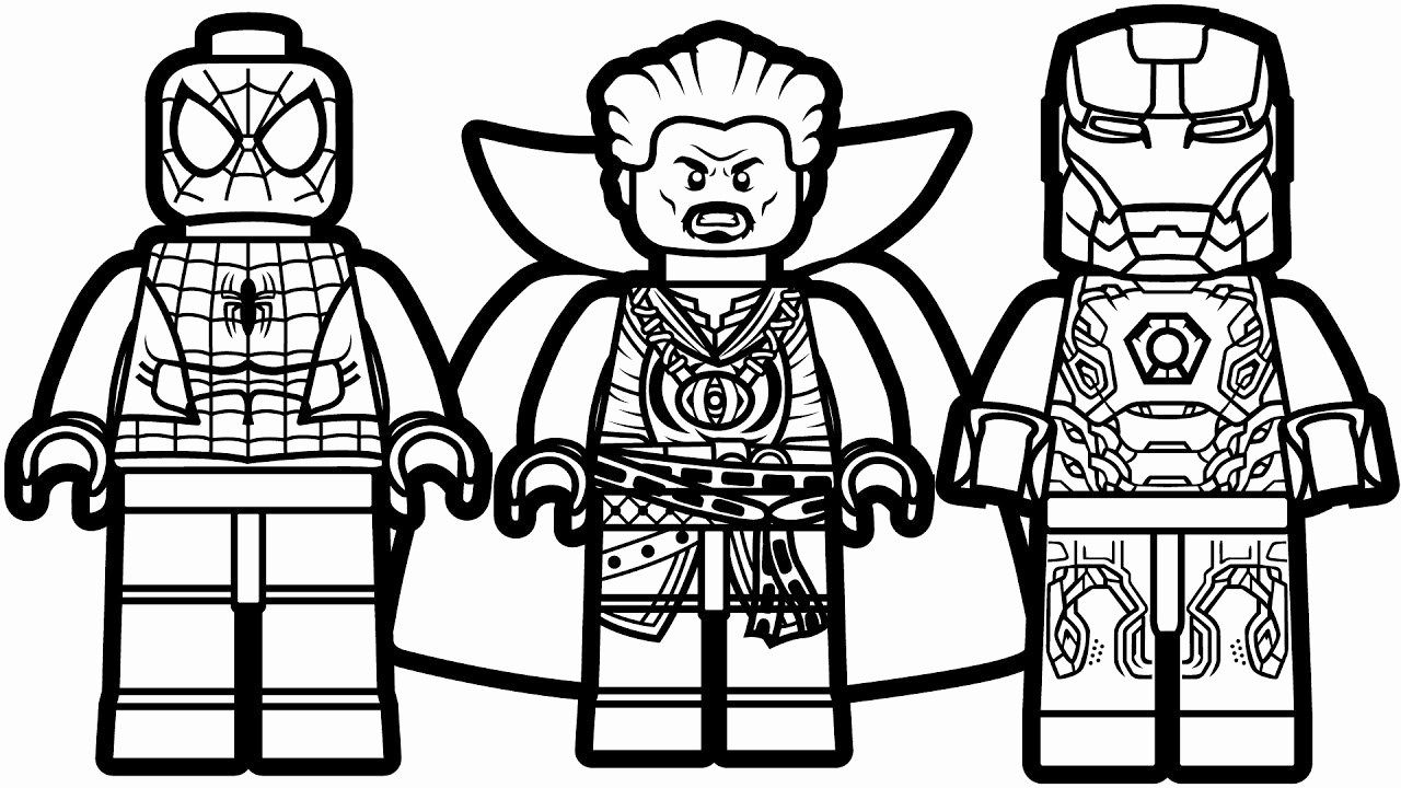 Lego Marvel Malvorlagen in 2020 Lego coloring pages