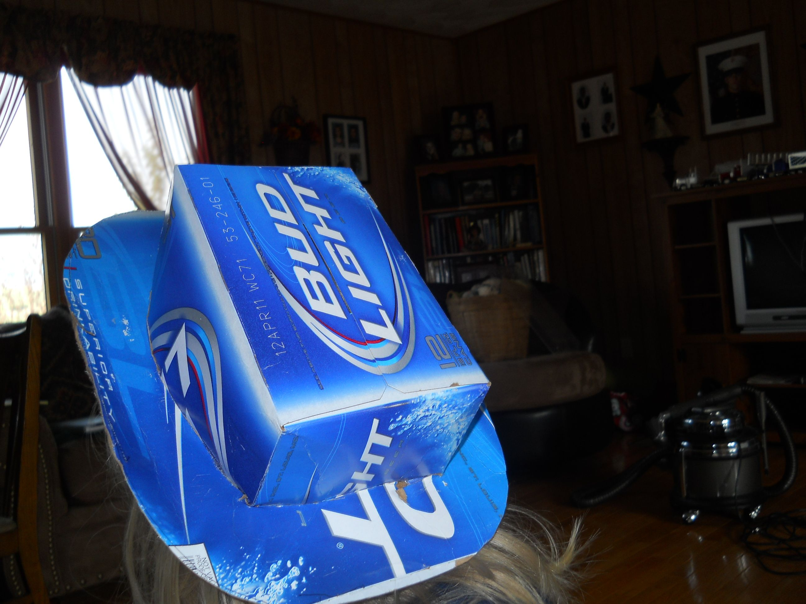 Pin By Krista Hiner On Krista S Craft Corner Beer Box Hat Diy Beer Beer Box