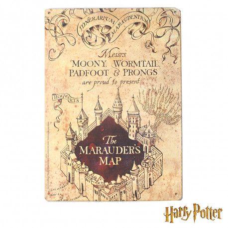 Plaque Potter Du Métallique Harry MaraudeurCadeau Petite Carte iXkPZu