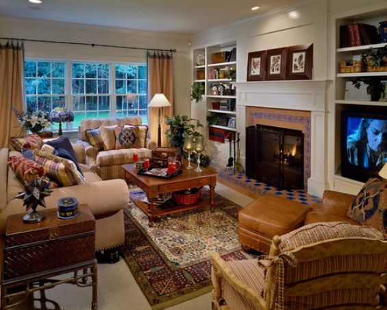 Traditional Living Room Ideas With Fireplace And Tv Novocom Top